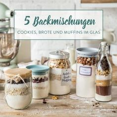 DIY baking mix in a glass: super juicy DIY Backmischung im Glas: Supersaftige Brownies Today there is double chocolate – in the form of powdered cocoa and soft chocolate. As a homemade baking mix and as brownies in a glass.