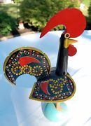 Look what I just bought on eBay: Vintage 50's Rooster, Galo de Barcelos, Portuguese Folk Art, Painted Wood