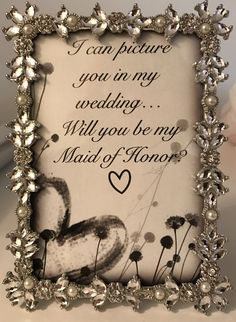 """Bridesmaid """"proposal"""" simple and pretty!"""