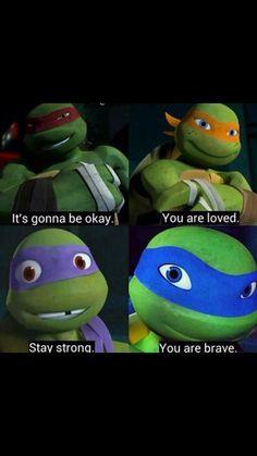Something to encourage you. -Leo, Raph, Donnie, and Mikey Ninja Turtles Art, Teenage Mutant Ninja Turtles, Turtle Tots, Tmnt Leo, Tmnt Comics, Childhood Tv Shows, Tmnt 2012, Nickelodeon, Fan Art
