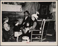 Arthur Rothstein. Joe Handley and family in their home at Walker County, Alabama. 1937 Feb. NYPL Digital Gallery.
