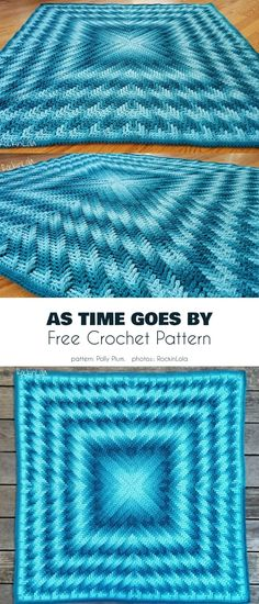 Cubine Blanket Free Crochet Pattern It's surprising that optical illusions and perspective designs are not a more frequent subject of crochet patterns. They are a great way to bring a taste of MC… Crochet Afghans, Crochet Bedspread Pattern, Crochet Ripple, Afghan Crochet Patterns, Crochet Stitches, Knitting Patterns, Knit Crochet, Easy Crochet, Crochet Blankets