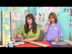 Cuadro floral con relieve   Rosana Ovejero en Artez TV - YouTube