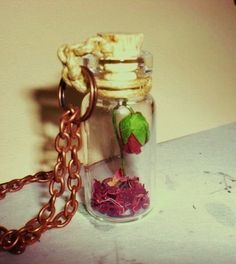 Beauty and the Beast - Rose necklace