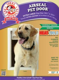 Ideal Pet Products 1025 by 1575Inch Air Seal Pet Door with Telescoping Frame XLarge >>> Check out the image by visiting the link.