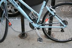 how to lock up your bicycle on nyc streets - velojoy Riding Mountain, Mountain Biking, Mountain Bike Frames, Used Bikes, Lock Up, Touring Bike, Track And Field, Road Bike, Mtb