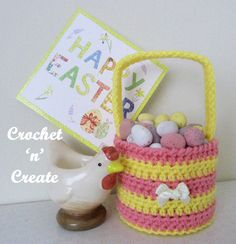 An Easter egg basket free crochet pattern for you to make for the upcoming holiday, which would you believe is in just two weeks time. Making the ....