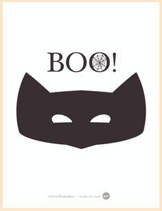 Máscara Boo! #deliciesterreta #halloween www.deliciesdelaterreta.com