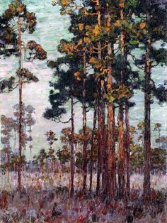 ELLSWORTH WOODWARD First Light in the Pines (1913)