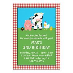the 25 best barnyard farm birthday invitation images on pinterest