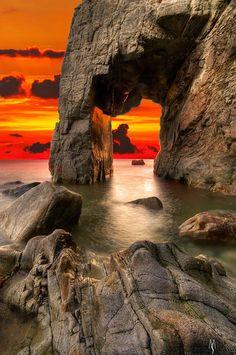 Port Blanc,Quiberon, Brittany, France.