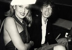 Mick Jagger and Jerry Hall by Ron Galella