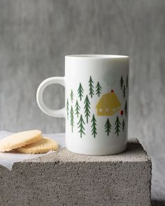 Retreat Tall Mug - A tall mug is a surefire conversation starter. A cozy cabin nestled in a forest clearing invites you inside to warm by a crackling fire. Surefire, Cozy Cabin, Conversation Starters, Invites, Kitchen Dining, Warm, Mugs, Studio, Tableware