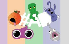 Funny creatures. #graphics #characters #funny #coloured #strangestuff
