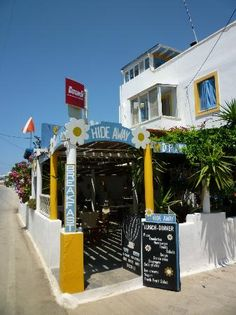 Cafe Hide Away Add to trip Main Street to Naxos Town, 30m from the Beach., Agios Prokopios 84300, Greece +30 2285 041989