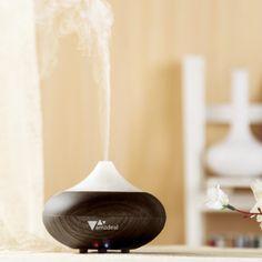 Aukey® amzdeal Humidificateur ultrasonique/Diffuseur Aroma/ Diffuseur d'huiles essentielles / humidificateur/ diffuseur de parfum de lumière avec la prise UE (Bois foncé): Amazon.fr: Hygiène et Soins du corps