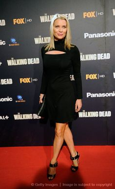 TWD - Andrea (Laurie Holden).. disappointing that she is extremely stuck up :( makes you delete her pictures if you took them..