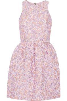 Markus LupferErica metallic textured-jacquard dress