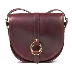 J.W. Hulme Co. Belmont Crossbody Handbag in oxblood - made in the USA