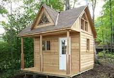 12 x 12 cabin from Cabana Village Garden Buildings -- additional sizes and models available with pricing info available shed plans Attic Apartment, Attic Rooms, Attic Spaces, Attic Playroom, Attic Bathroom, Tiny Spaces, Little Cabin, Little Houses, Tiny Houses