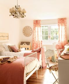 This Spanish country house designed in classical style gives ✌Pufikhomes - source of home inspiration Bedroom Bed, Girls Bedroom, Bedroom Decor, Dream Rooms, Dream Bedroom, Shabby Chic Bedrooms, Girl House, Little Girl Rooms, Decoration