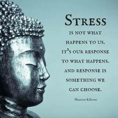 Quotes to inspire your practice Stress is not what happens to us. it's our response to what happens. And response is something we can choose.Stress is not what happens to us. it's our response to what happens. And response is something we can choose. Great Quotes, Me Quotes, Motivational Quotes, Inspirational Quotes, Super Quotes, Chaos Quotes, You Got This Quotes, Strong Quotes, Attitude Quotes
