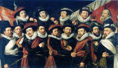 Officers of the civic guard under the command of colonel Gijsbert 't Hert, Jan Daemesz de Veth (1616), Museum het Catharina Gasthuis, Gouda