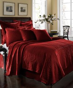 Scarlet Matelassé Coverlet | something special every day