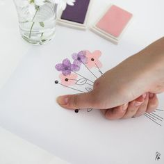 Glückwünsche - Printable / Plakate Fingerfarben / 4 Motive - ein Designerstück von sppiy bei DaWanda