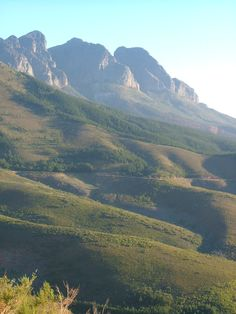 """Bains Kloof mountain pass - near Paarl and """"just behind"""" Wellington"""