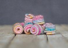Kleine handgefertigte Stoff Textil Perlen für