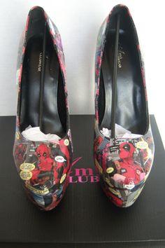 Custom Deadpool Comic Heels Deadpool Shoes Deadpool by MadEnvy