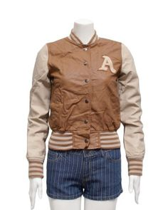 Plus Size Ladies Camel A patch Letterman Baseball Jacket FineBrandShop. $49.50