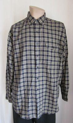 RALPH LAUREN Creek Wool Blend Flannel Plaid Shirt L Large Long Sleeve Outdoor #RalphLauren #ButtonFront