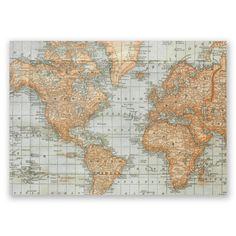 Prestigious textiles designer pvc vinyl fabric wipe clean oilcloth antique world map invitation gumiabroncs Image collections