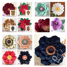 HARDCOPY Paper Flower Templates / Price is for ONE template