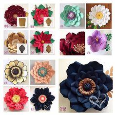 HARDCOPY Paper Flower Templates / Read Description