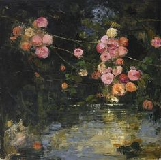 "huariqueje: "" Pivoine - Goxwa Borg Maltese b. 1961- Oil & wax on canvas. 47″ x 47″ """