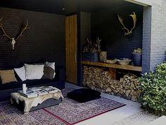 gezellig met die tapijtjes en dat haardhok ♥