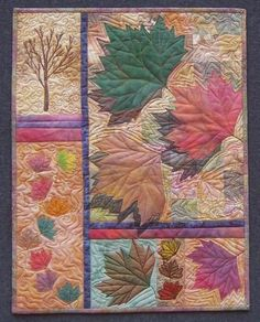 Quilt by Linda Steele, Autumn Leaves, displayed at the International Quilt Festival in Houston 2007 #quilt #autumn #leaves