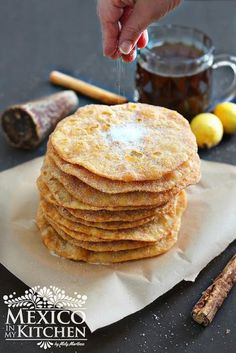 Traditional Mexican Buñuelos, a step by step photo tutorial to guide you all the way to delicious crispy and sweet buñuelos. Recipe tested by thousands of readers. Check it out! #recipe #mexican #christmas