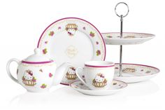 Crabtree & Evelyn collaboration with Sanrio's signature character, Hello Kitty. A collection of bespoke tea set
