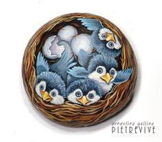 Nest. Stone art by Ernestina Gallina, Pietrevive. https://www.facebook.com/pietrevive.ernestina