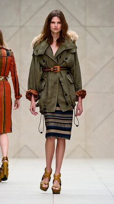 Oversized linen cocoon parka from the Burberry Prorsum Spring/Summer 2012 collection