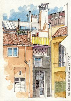JR Sketches: Aix-En-Provence - Rue L' Annonnerie Vielle