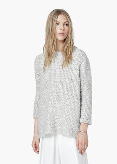 Jersey lana mohair -  Mujer | MANGO