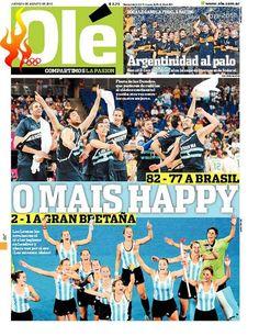 Jueves 9 de Agosto del 2012. http://www.ole.com.ar/la-tapa/