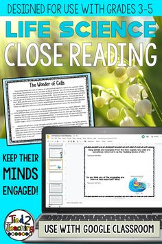 This reading passages pack includes 10 DIGITAL life science close reading informational passages on a variety highly tested life science topics. Each passage also has 4 text dependent questions that drive students back to the text to extrapolate the needed information. In addition, for every passage you will receive both an informational and a opinion / argument prompt the students can write to.