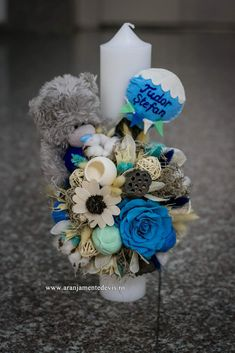 Flower Diy, Diy Flowers, Kids And Parenting, Christening, Diy Ideas, Christmas Crafts, Decorating Ideas, Clay, Candles