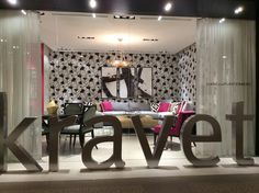 Kravet showroom at #neocon14 in Chicago. Bold. Contrast.